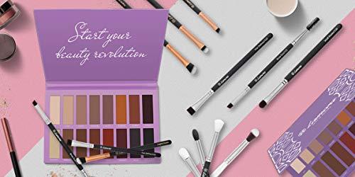 Beste Lidschatten Palette Matt - Vegane Eyeshadow Augenpalette mit 16 Hochpigmentierten Warmen Natürlichen Matten Farben in Nudetönen - Professionelle Make Up Kosmetik - Ideales Geschenk