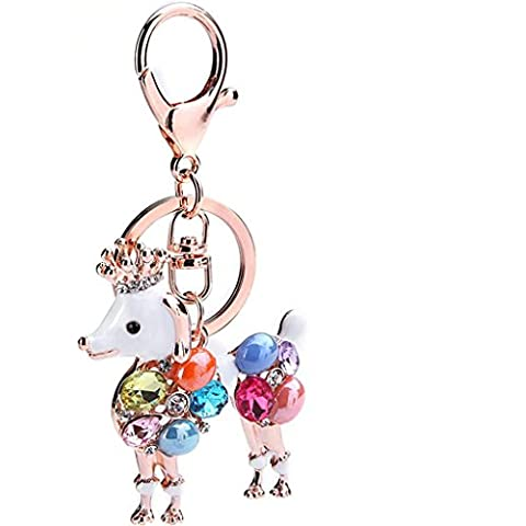 ZYQYJGF Cuccioli Di Bling Crystal Keyring Phone Strap Bag Ornamenti Keychain(Pack Of 2) Picture Color