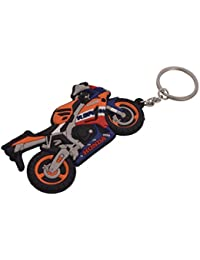 SLN Honda CBR Sports Bike Keychain Rubber Keychain For Bike Bags Handbags Gift Collectible