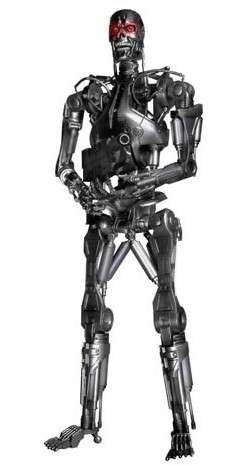 Figura Terminator Endoesqueleto 45 Cms Con Luz en los Ojos 1