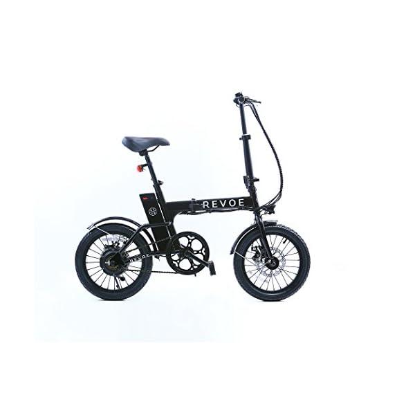 Revoe Lite Bicicletta Pieghevole Elettrica Ruote 16 Pollici Nero