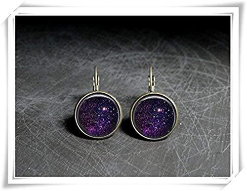 JUN Stardust Ohrringe, Violett Star Ohrringe-, Stardust Schmuck Violett Ohrringe, Star-Schmuck, Stern Staub Ohrringe, Violett - -