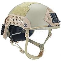 atairsoft táctico militar del ejército SWAT CQB Shooting Combat marítima ajustable 10de fibra de aramida Kevlar casco protector, color DE, tamaño M-L
