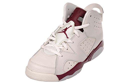 Nike Jungen Jordan 6 Retro Bp Turnschuhe Weiß, Rot (Off White / New Maroon)
