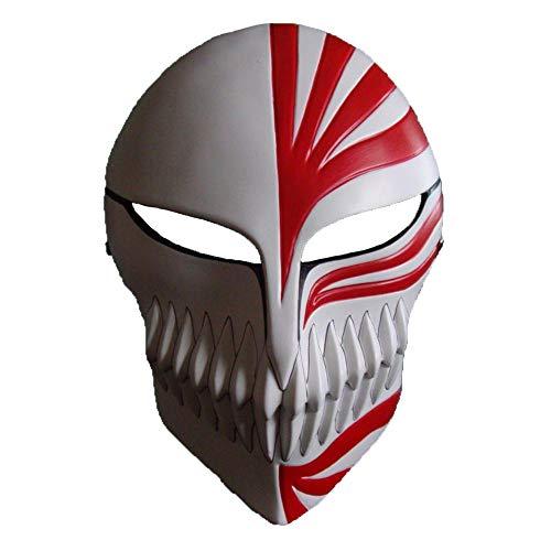 LXIANGP Halloween-Maske Horror Tod Maske schwarz Saki Eine Pflege Virtual Face Gesicht Gesicht Mann Anime Mann bis zur Hand weißen Modell -