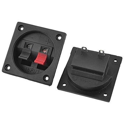 2 Stück Push in horizontale Kunststoffschale Lautsprecher Terminals Typenschild de