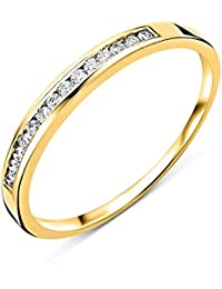 Miore - Bague Femme - Or jaune 750/1000 (18 carats) - Diamant 0.1 Cts