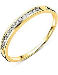 Miore 18 Karat (750) Gelbgold 52 (16.6) Damenring, mit  14 (0,1 cts) Diamanten