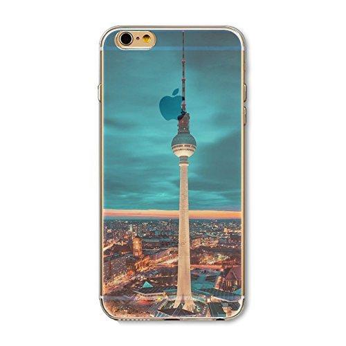 Coque iPhone 7 Plus Housse étui-Case Transparent Liquid Crystal en TPU Silicone Clair,Protection Ultra Mince Premium,Coque Prime pour iPhone 7 Plus-Paysage-style 2 2