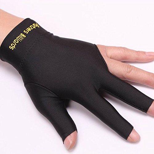 3Finger Pool und Billard Handschuh Mann Frau dehnbar links Hand NEU Drei 3Finger Billard Handschuh, schwarz