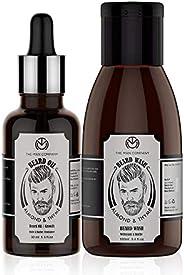 The Man Company Combo of Growth Beard Oil 30ml & Growth Beard Wash - 100ml (Almond & Thyme)   Beard Gr