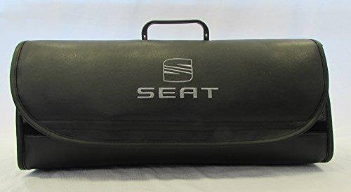 Fundas para asiento de coche organizador de maletero (de piel, compatible con todos los modelos
