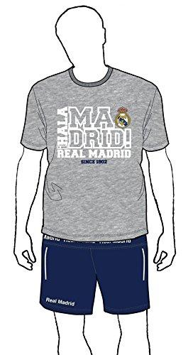 Pijama REAL MADRID Adulto Oficial Gris 1902 Talla XXL