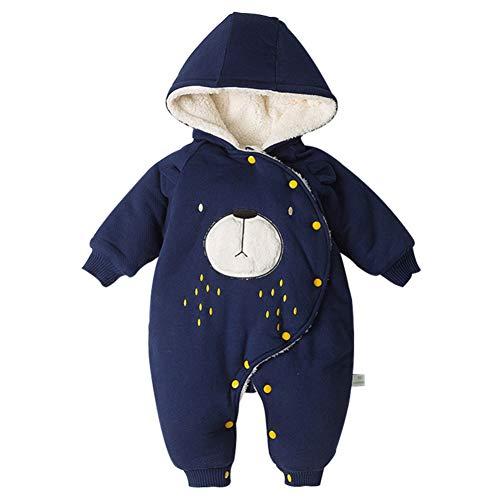 Blaward Unisex Baby Nachtwäsche Hoodie Strampler Thicking Bodysuit Langarm Baumwolle Fleece Jumpsuit Onesies für 3-15Monat
