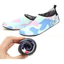 –Sistema de bloqueo Unisex Agua Descalzo los zapatos suaves para navegar por la playa nadar de yoga ejercicio, rojo, medium