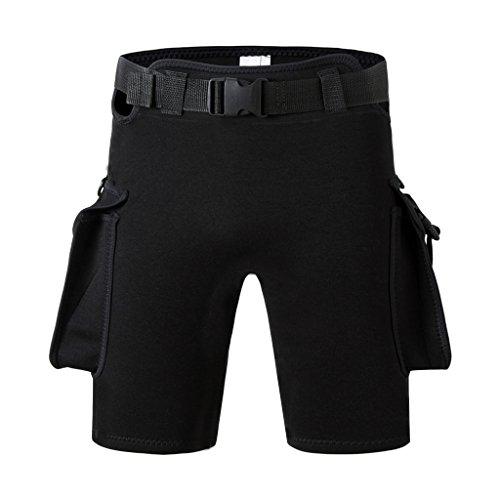 Baoblaze Wetsuit Shorts/Neopren Shorts - Schwarz, XXXL