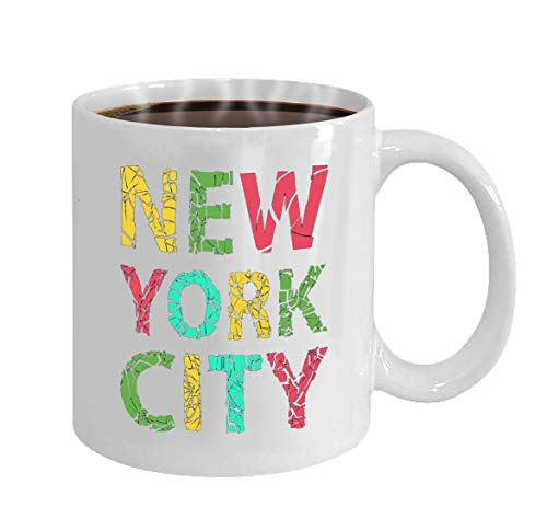 Funny Gifts for Halloween Party Gift Coffee Mug Tea new york city typography illsutration