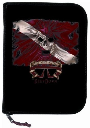Innovative 3 Ring Binder Log Book mit Einsatz Zubehör 10-1/2 x 7-3/4 x 2 Inches Flag Skull