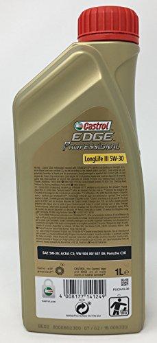 Huile de moteur Castrol Edge Professional Longlife III 5 W-30, 6 litres (nouvel emballage 2018)