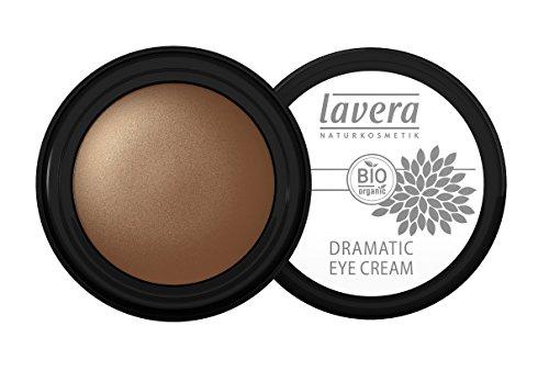lavera Lidschatten Creme Dramatic Eye Cream ∙ Farbe Gleaming Gold ∙ zart & schimmernd ∙ Natural & innovative Make up  Bio...