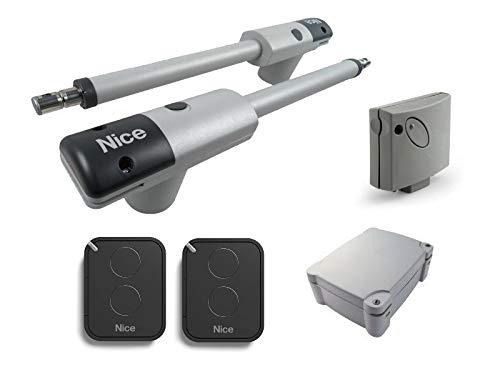 Nice-TooKit-230V-2-X-TOO3000-motores-2-X-FLO2RE-transmisores-A60-central-De-Mando-con-receptor-SMXI-enchufable-para-la-Automatizacin-para-puertas-batientes-con-hojas-de-hasta-3m-230-Vac-montaje-extern
