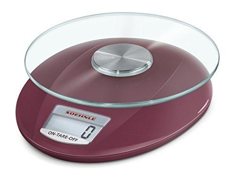 Soehnle 65847Bilancia da cucina digitale Roma rosso rubino