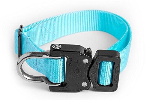 Custom Gürtel-schnalle (Klik Gürtel Tactical Arbeiten Hundehalsband mit Cobra Schnalle, Large Neck 18