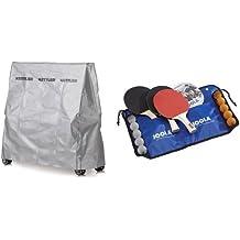 Kettler Abdeckhaube Tischtennisplatte - Outdoor Abdeckung Tischtennis - qualitativ hochwertige, wetterfeste Schutzhülle - Artikelnummer: 07032-600 & JOOLA Tischtennis-Set Family