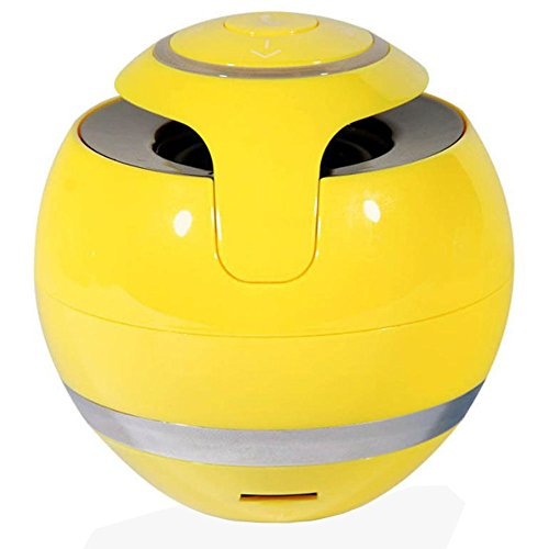 Mini Portable Bluetooth Lautsprecher Speaker mit Multifunktions (3,5 mm Audio, Micro SD Karte Slot, USB-Anschluss unterstützen) für Handys/Tablets/PCs/Laptops (Gelb)