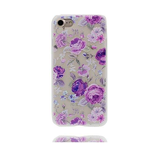 Custodia iPhone 7, ( unicorno unicorn ) Silicone trasparente Case iPhone 7 copertura Cover 4.7 e ring supporto Shell Graffi Resistenti Color - 8