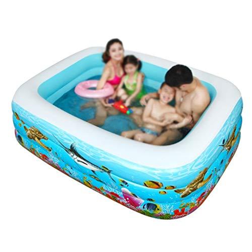 Erwachsene Badewanne, Swimmingpool Praktische Tragbare Kind Erwachsene Aufblasbare Badewanne Kinder Aufblasbares Tauchbad Ocean Ball Pool TINGTING (Color : Blue, Size : 180 * 130 * 60cm)