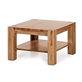 Amazon Brand – Alkove Hayes Square Panel Solid Wood Coffee Table, 70 x 70 x 45cm, Core Beech
