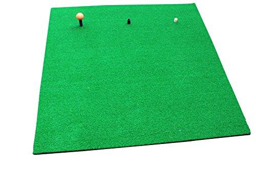 Big Shot Golf Tapis de golf d'entraînement professionnel avec base en caoutchouc mousse et lot de 4 tees en caoutchouc 100 x 100cm