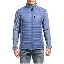Eono Essentials - Chaqueta de esquí híbrida acolchada para hombre DuPont Sirona (azul oscuro, XL)
