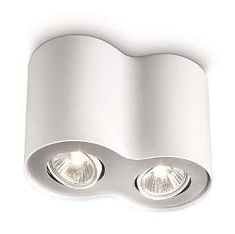 Philips My Living : philips myliving pillar 2 spotlight spiral white includes 2 x 35 watts gu10 bulb ~ Watch28wear.com Haus und Dekorationen