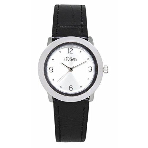 s.Oliver Damen-Armbanduhr Analog Quarz Leder SO-15064-LQR