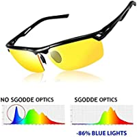 SGODDE Hot Fashion Sunglasses, Fishing Glasses,Night Vision Driving Glasses, Anti-glare HD Vision, UV400 Protection,Men and Ladies For Outdoor Wayfarer,Driving,Cycling, Ski, Riding