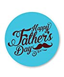 PosterGuy Happy Father's Day Brown Typography Gift Fridge Magnet