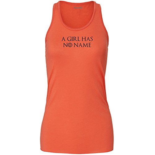Brand88 - A Girl Has No Name, Damen Flowy Racer Tank Top Koralle