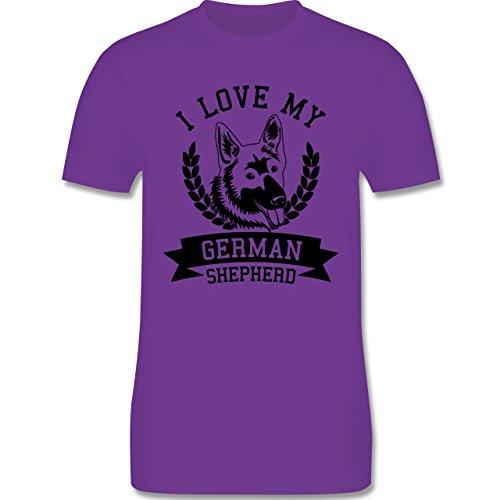 Hunde - I love my German Shepherd - Herren Premium T-Shirt Lila