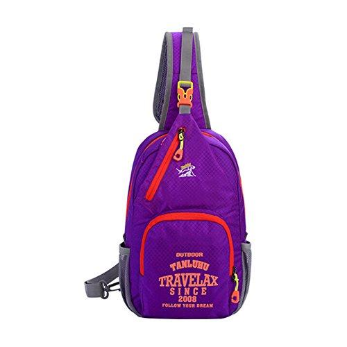Fashion Graffiti petto borsa a tracolla borsa a tracolla per lo sport outdoor escursionismo arrampicata ciclismo palestra–Tanluhu multiuso, tempo libero, Purple Purple