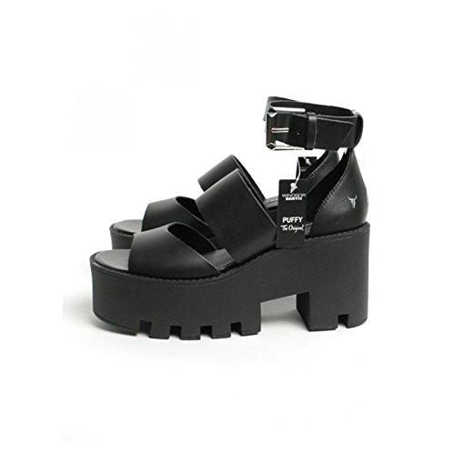 Windsor Smith Puffy, Scarpe Col Tacco con Cinturino alla Caviglia Donna, Nero, 36 EU