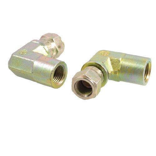 Sourcingmap - 2 pezzi 0,64 cm connettori dei tubi idraulici dado girevole gomito pt (Girevole Tubo Connettore)