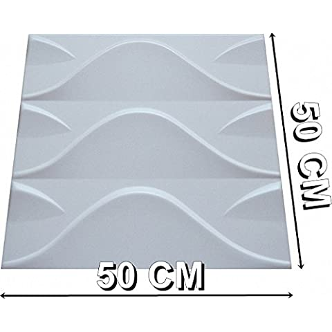 3d pared interior decorativo panels-3d boards-3d pared cladding-stok, 500 x 500 mm