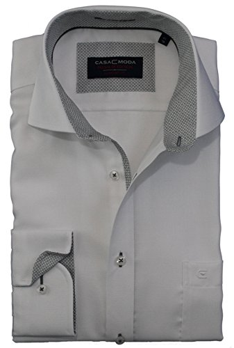 Casa Moda Herren Hemd Comfort Fit mit dezenter Struktur - Weiß Weiß