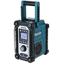 Makita DMR102 Portátil Digital Negro, Azul, Plata - Radio (Portátil, Digital, AM, FM, 87,5 - 108 MHz, 522 - 1629 kHz, LCD)