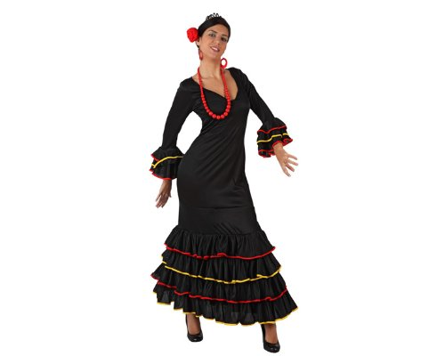 Flamenco-Tänzerinnen-Kostüm für Damen - M / (Kostüm Tänzerin Deutsche)