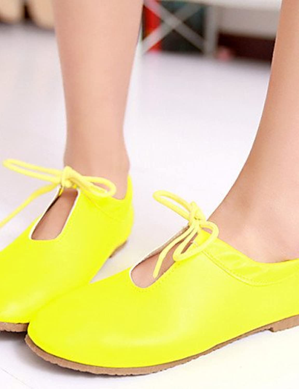 NJX/ hug Zapatos de mujer - Tacón Plano - Comfort / Mary Jane - Oxfords - Exterior / Casual - Semicuero - Negro...