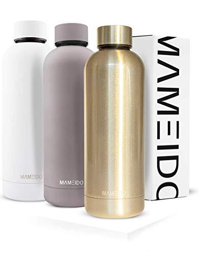 MAMEIDO Trinkflasche 500ml | Rosegold Glänzend -