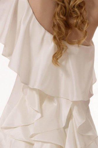 GEOGE BRIDE - Robe de soir¨¦e longue souple et fluide avec une bretelle Ivoire